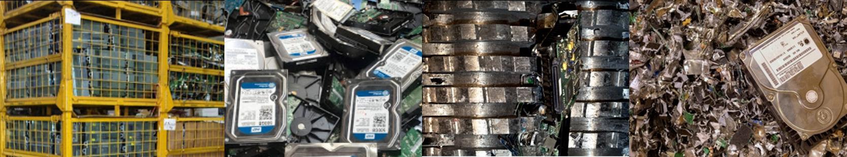 recyclage destruction de disque donnée broyage